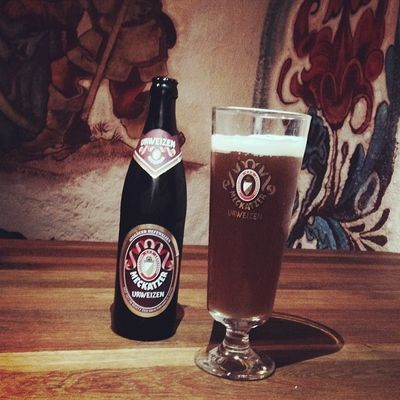 Zum Essen gibts lecker Meckatzer Urweizen... #prost Brennerhof Tuttlingen Tasteup Beer Whiskysbh Germany Urweizen Cheers Meckatzer Baden Bier Deutschland Weissbier Weizenbier Prost Badenwuerttemberg Immendingen