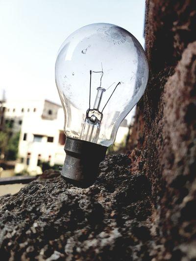 Technology Electricity  Close-up Sky Filament Light Bulb