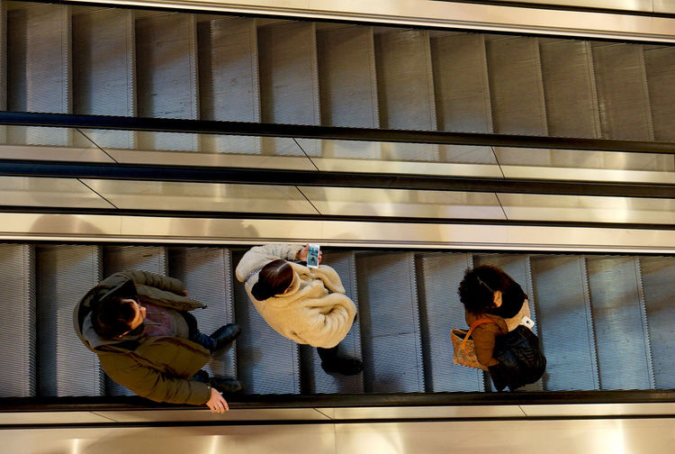 downstairs Real People Group Of People People Indoors  Escalator Mall Street Photography Streetphotography Aerial View Birdseyeview High Angle View