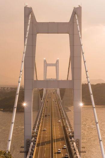 Japan Suspension Bridge Landscape Okayama Nikon EyeEm Best Edits EyeEm Superbview EyeEm Best Shots 瀬戸大橋 Transportation Architecture Connection Built Structure