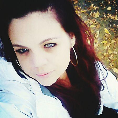 JustMe Blue Eyes Fall Beauty Fall Leaves