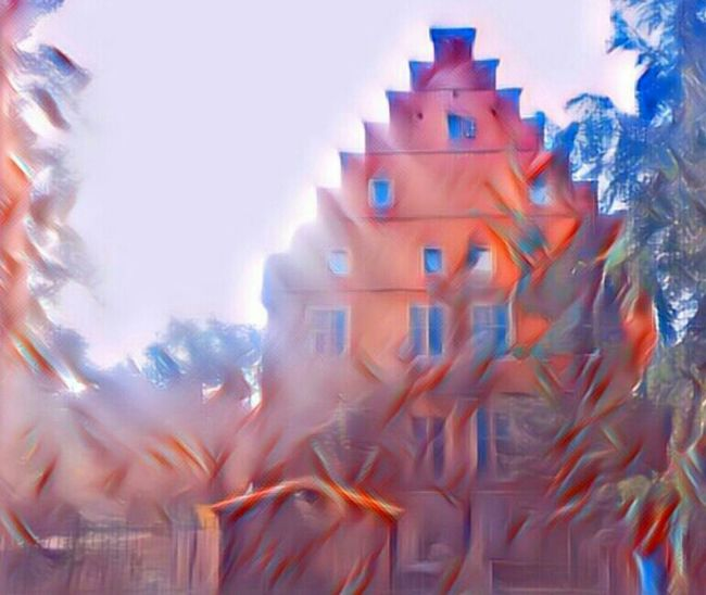 Haus W. mal anders ... Digital Composite Multi Colored Outdoors No People Tranquility Selfmade Tranquil Scene Abstrakt Art Digital Art Day
