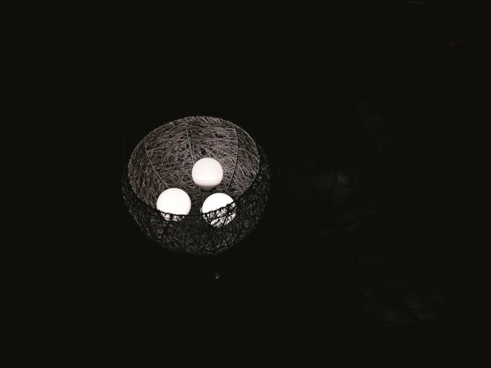 Black Background Illuminated Light Bulb Electricity  Hanging Lantern Lighting Equipment Electric Light Ceiling Close-up