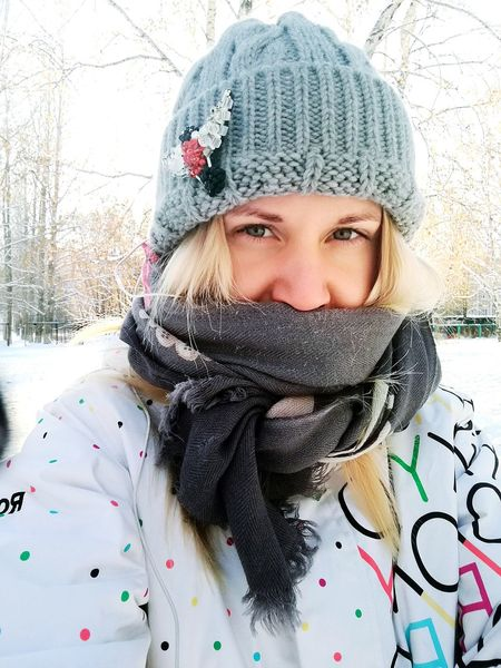 Russianwinter Winter Cold Temperature Warm Clothing Snow One Person Knit Hat Adults Only Only Women One Woman Only Headshot Weather Adult People Looking At Camera Portrait Young Adult Front View Women Human Body Part Scarf Brooches Brooch Birds Bird