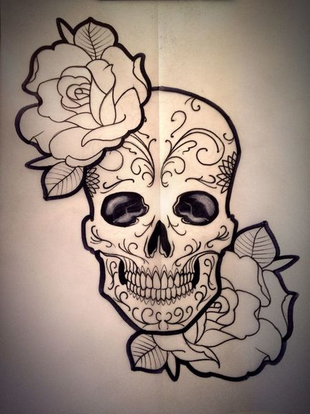 Sketch!!! Caveiramexicana Mexicanskull Blackworktattoo Sketch Gisrodriguestattoo Blackdynasty