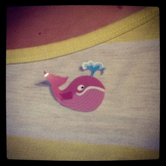 The whale sticker of happiness. Sillythingswedoatwork Peptalk Stillwearingafter12hours