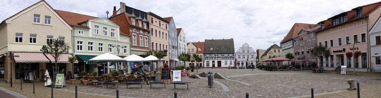 Marktplatz Architecture Building Exterior Built Structure City Cloud - Sky Day House Marketplace No People Outdoors Panorama View Residential Building Sky