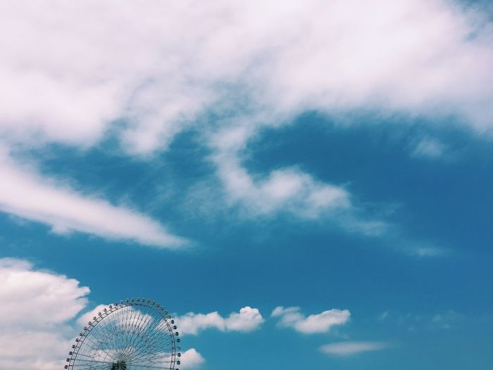 Blue Sky Ferris Wheel Showcase June Ultimate Japan Fine Art Photography Sky Sky And Clouds Colour Of Life Color Palette TakeoverContrast