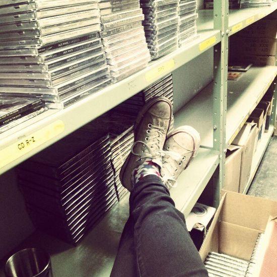 Working hard or harldy working @ bin vedge HMV Work Hmv Converse