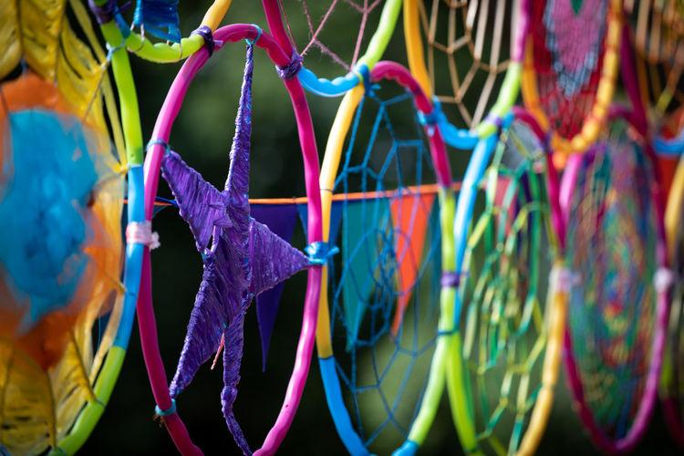 Full frame shot of multi colored decoration
