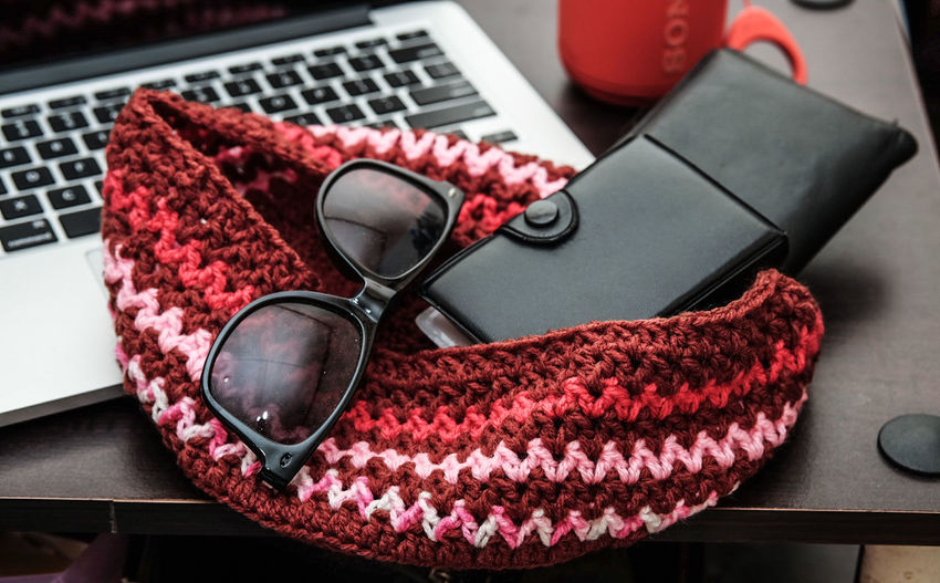 Red Fashion Business Finance And Industry Pink Color No People Wallet Wireless Technology Indoors  Arts Culture And Entertainment Studio Shot Eyeglasses  Day Close-up