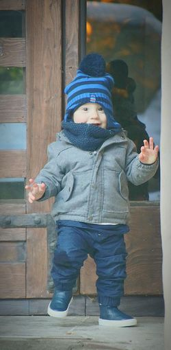 That moment when he knows me Baby Babyboy ❤ Children Childhood Child Smiler Withlove Cold Day Cold Winter ❄⛄ Smiling Baby Photography Jihlava Love