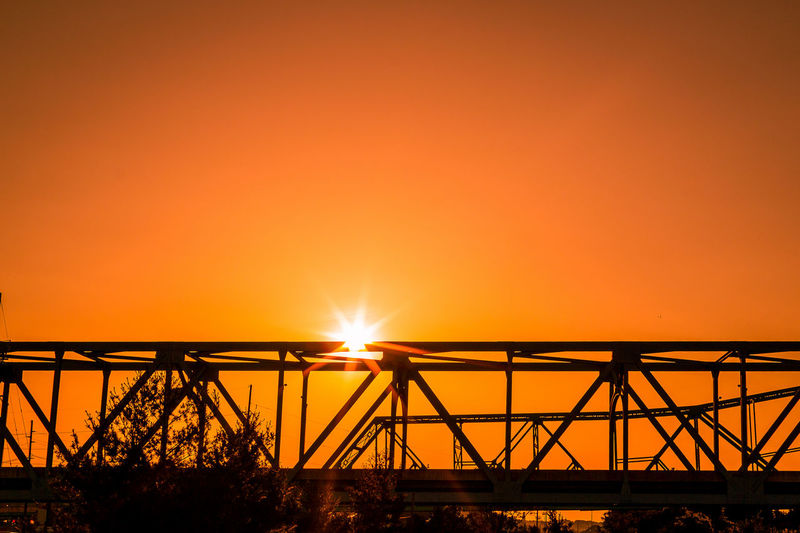 Silhouette Of Bridge Against Sky During Sunset