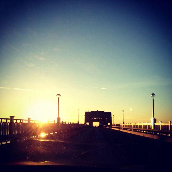 Driving over this bridge at sunset was stunning. Sunset Bridge Beautiful First Eyeem Photo