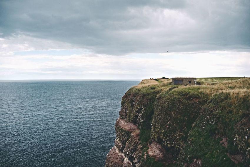 Fowlsheugh Fowlsheugh RSPB Sea Water Cloud - Sky Horizon Over Water Nature Beauty In Nature No People Outdoors Aberdeenshire Aberdeenshire Coast Scotland Idyllic Landscape North Sea Tranquility Tranquil Scene Crawton Dramatic Sky Weather Scenics