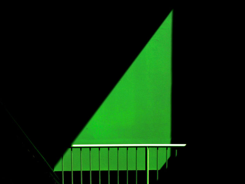 Abstract Architecture Backgrounds Black Background Building Built Structure Copy Space Dark Glowing Green Color Illuminated Indoors  Light - Natural Phenomenon Lighting Equipment Low Angle View Minimalism Multi Colored No People Railing #FREIHEITBERLIN #urbanana: The Urban Playground
