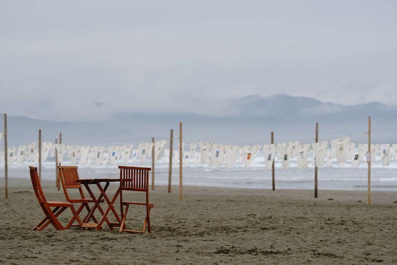 Beach Sand Sea Chair Horizon Over Water No People Relaxing EyeEm Best Shots Enjoying Life EyeEm Nature Lover Tシャツアート展 砂浜美術館 α6300 SEL90M28G Sand Beach Museum