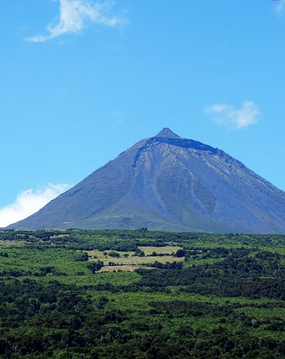 Mountain Pico Mountain Volcanic Landscape Volcano Sky Landscape Cloud - Sky Idyllic Countryside Scenics Tranquil Scene
