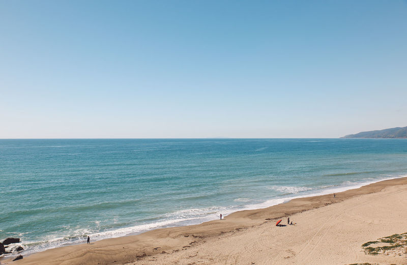 Malibu Point Dume Beach Beauty In Nature Blue Clear Sky Copy Space Day Horizon Over Water Nature No People Outdoors Sand Scenics Sea Sky Tranquil Scene Tranquility Vacations Water Wave California Dreamin