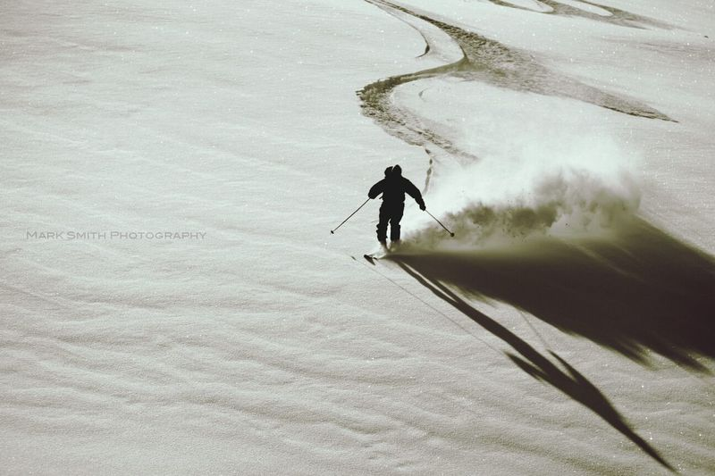 My Old Man Shredding the Whistler BackcountryWinter White By CanvasPop