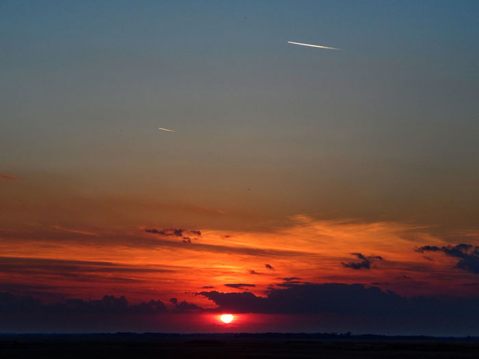Airplane Beauty In Nature Flying Hortobagy Hungarian_photographers Hungary Nature Outdoors Sea Sky Sunset Tranquility Vibrantcolors