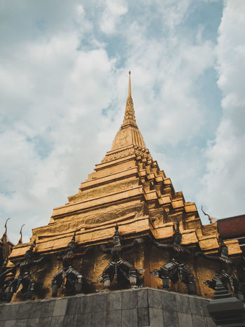 ASIA Asian Culture Gold Architecture Building Exterior Built Structure Gold Building Low Angle View No People Ornate Place Of Worship Religion Spire  Spirituality Temple Temple Architecture Travel Travel Destinations