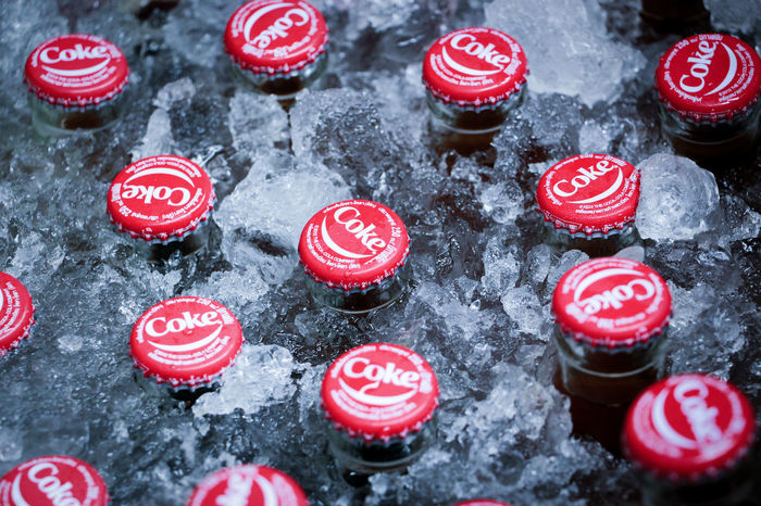 For a hot summer day! Caps CarbonatedDrink Refreshment Close-up Coca Cola Cocacola Coke Bottle Cold Drinks Cool Drinks Drink Food And Drink Freshness High Angle View Ice Bucket No People Red Refreshing Soft Drink Soft Drinks Vintage