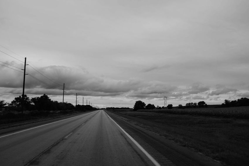 Visual Journal September 2018 Southeast Nebraska S.ramos September 2018 Visual Journal Photo Diary Always Making Photographs Camera Work Long Form Storytelling Fujifilm_xseries Rural America Photo Essay EyeEm Best Shots Getty Images Small Town Stories Eye For Photography Everyday Life FUJIFILM X100S 35mm Camera Monochrome Sky Road Transportation Direction Cloud - Sky The Way Forward Environment Landscape Diminishing Perspective No People Nature Field Land vanishing point Country Beauty In Nature Country Road Day Scenics - Nature Electricity  Outdoors
