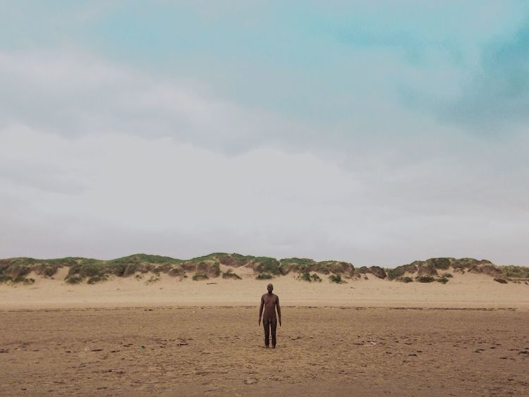 Crosby Beach Anthony Gormley Hello World ArtWork Beachlovers United Kingdom