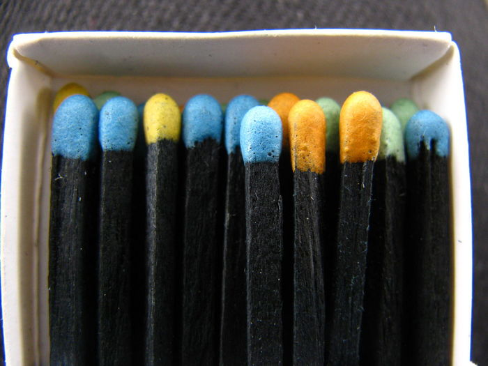Colorful Matchsticks In Box