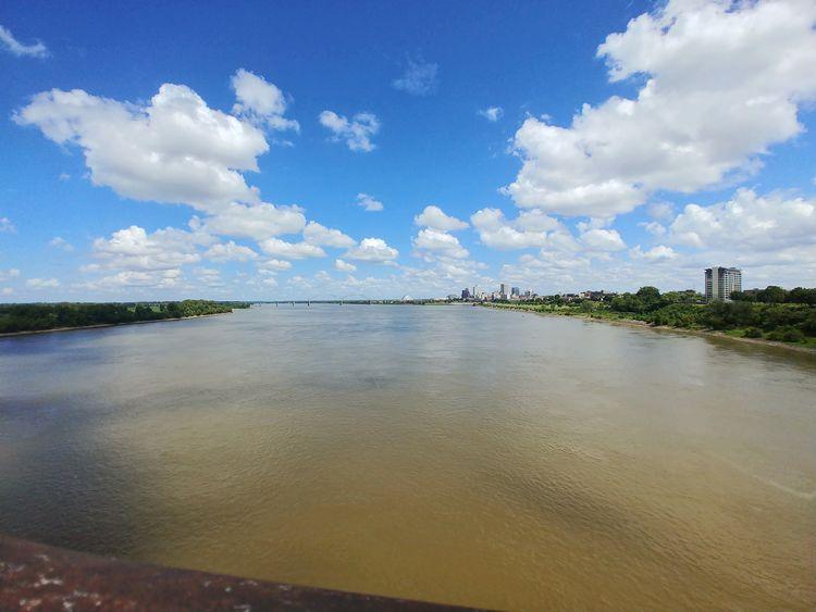 Mississippi River Memphis, TN West Memphis Mobilephotography LGV30photography LGV30 Water Blue Sky Landscape Cloud - Sky Office Building
