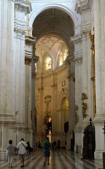 Granada cathedral, Spain. Granada, Spain Granada Cathedral Cathedrals  Architecture Place Of Worship Façade Church Architecture Historical Building Travel Destinations Travel Traveling Heritage Building Monuments Light And Shadow España Ancient Architecture