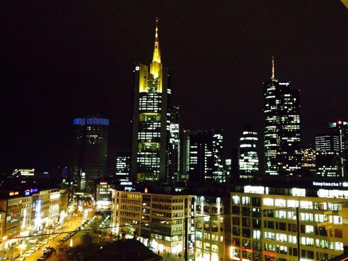 Frankfurt Am Main Disneyland Skyline Light Nightlife Skyscrapers Frankurt My Disneyland