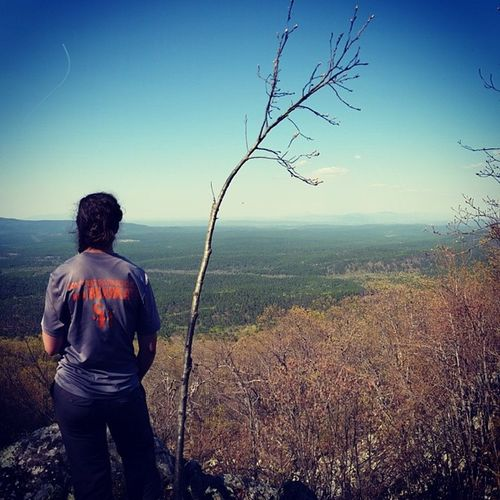 Don't just go to school, be a Bearkat ;) Bearkat Ouachitatrail Shsuoutdoors SHSU livethelifelessordinary backpacking oklahoma