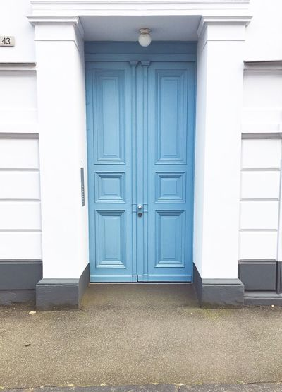 Blue Front Door Pastel Blue Light Blue Blue Wallcolor