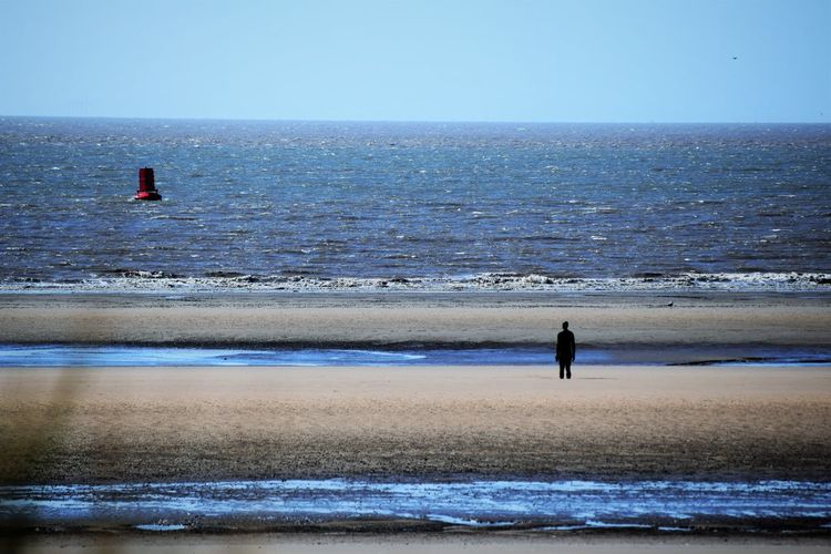 Another Place Another Place By Anthony Gormley Beach Beauty In Nature Buoy Clear Sky Day Full Length Horizon Over Water Landscape Nature Outdoors Scenics Sea Seascape Seaside Shore Sky Tranquility Water Wave Long Goodbye Lost In The Landscape