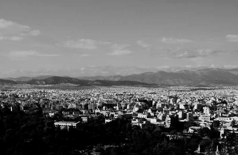 view over Athens Athens Blackandwhite Greece