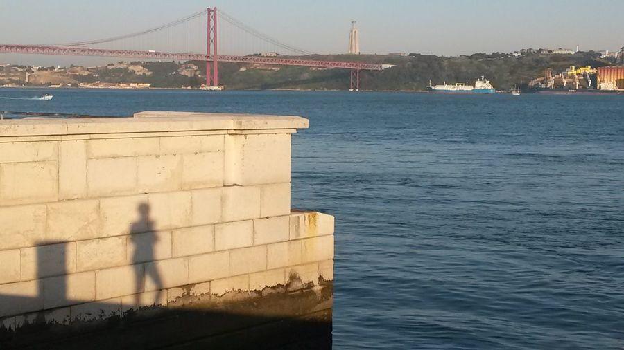 Lisbon - Portugal Tejo River Tejo Bridge Shadowplay