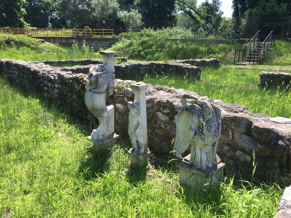 Archeological park in Dion, Macedonia, Greece. (1) Greece Photos Dion Outdoors Built Structure Statue History City Sculpture Open Museum Historic Park Old Ruin Ancient Civilization Art And Craft Ancient