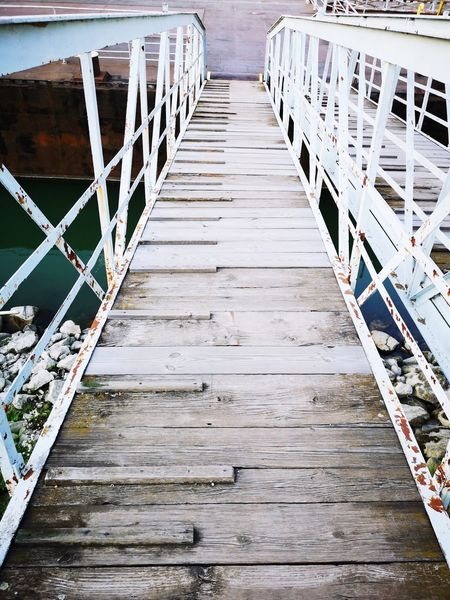 Going up or going down Bridge Way Water Nautical Vessel Jetty Pier Boat Dock Sailing Boat Port