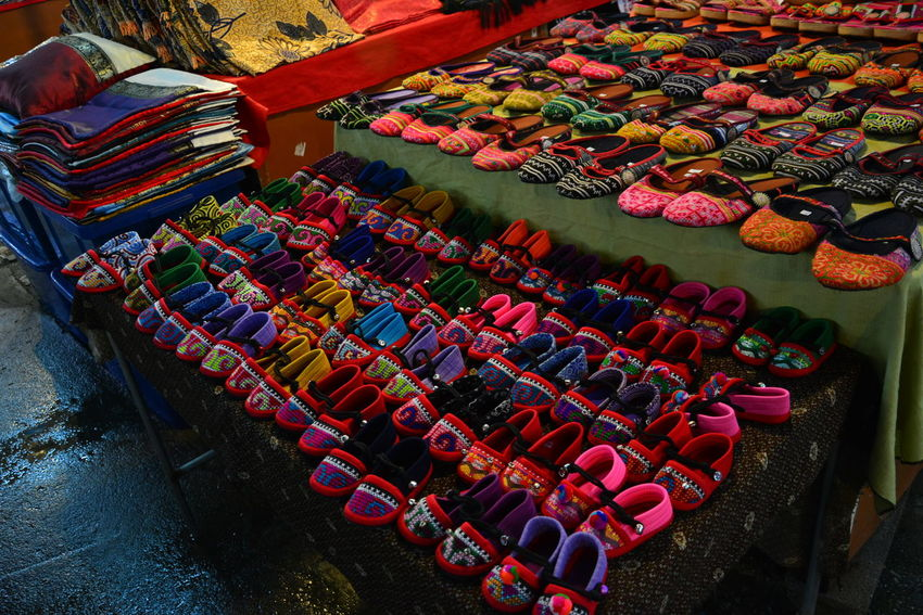 Abundance Arrangement Bazaar Chiang Rai, Thailand Choice Close-up Collection Day Display Elevated View For Sale Group Of Objects In A Row Large Group Of Objects Market Market Stall Multi Colored Night Night Bazaar No People Repetition Retail  Side By Side Still Life Variation