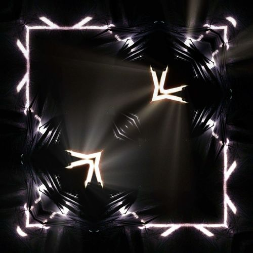 High angle view of illuminated lights on glass