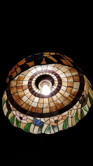 Photography Lamp Tiffany Lamp Lite Bulb Stained Glass Multi Colored Close-up No People Architectural Feature Colorful Indoors  Takingphotos Black Background Electric Light Dark Prettythings Ceiling Architecture Geometric Shape