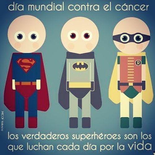 Realmente héroes pero con Dios si se pasa esa prueba!!!! Diamundialcancer Luchacontraelcancer