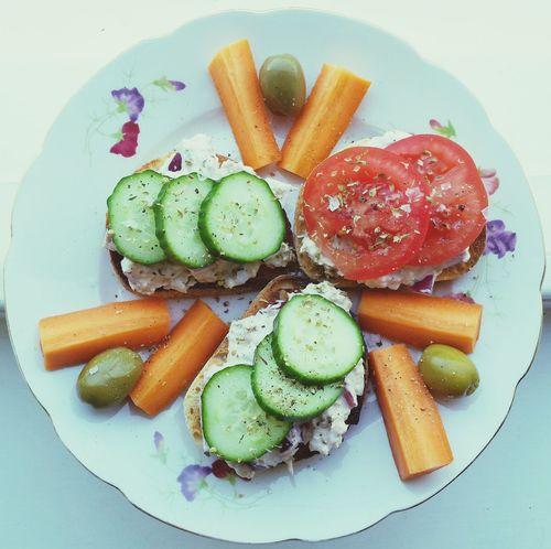 Lunch Tuna Sourdough Healthy Food
