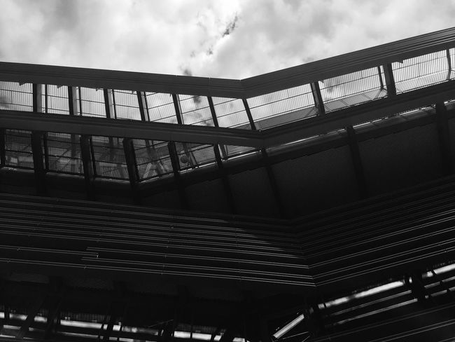 EyeEmNewHere Architecture Low Angle View Built Structure Sky Day No People Outdoors High Angle View Time EyeEm Best Shots Architecture Ghent Steel EyeEm Selects Tranquility EyeEmNewHere Black And White Friday