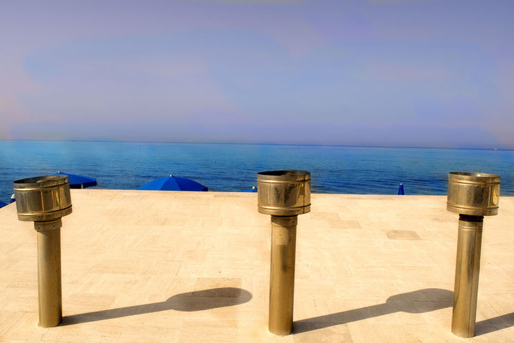 chimney pot at sea Industry Beach Blue Chimney Pots Chimney Top Horizon Horizon Over Water Nature Scenics - Nature Sea Sky Tranquil Scene Water