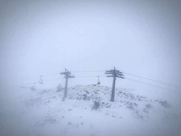 Skiing Foggy Day Snowing Snow ❄ Somuchsnow