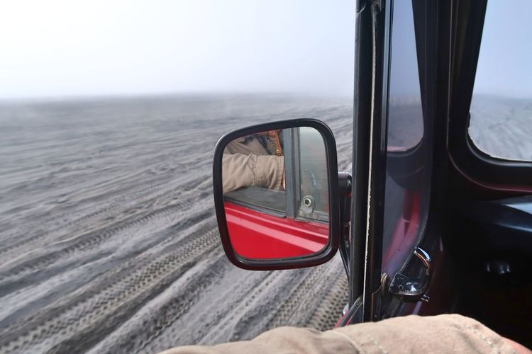 View of side-view mirror