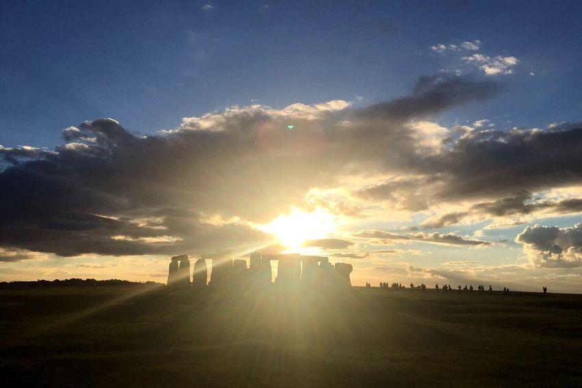 Historical Heritage English Heritage Sunset Up The Hill Nature Clouds Historic Stonehenge Stonehenge Memorial